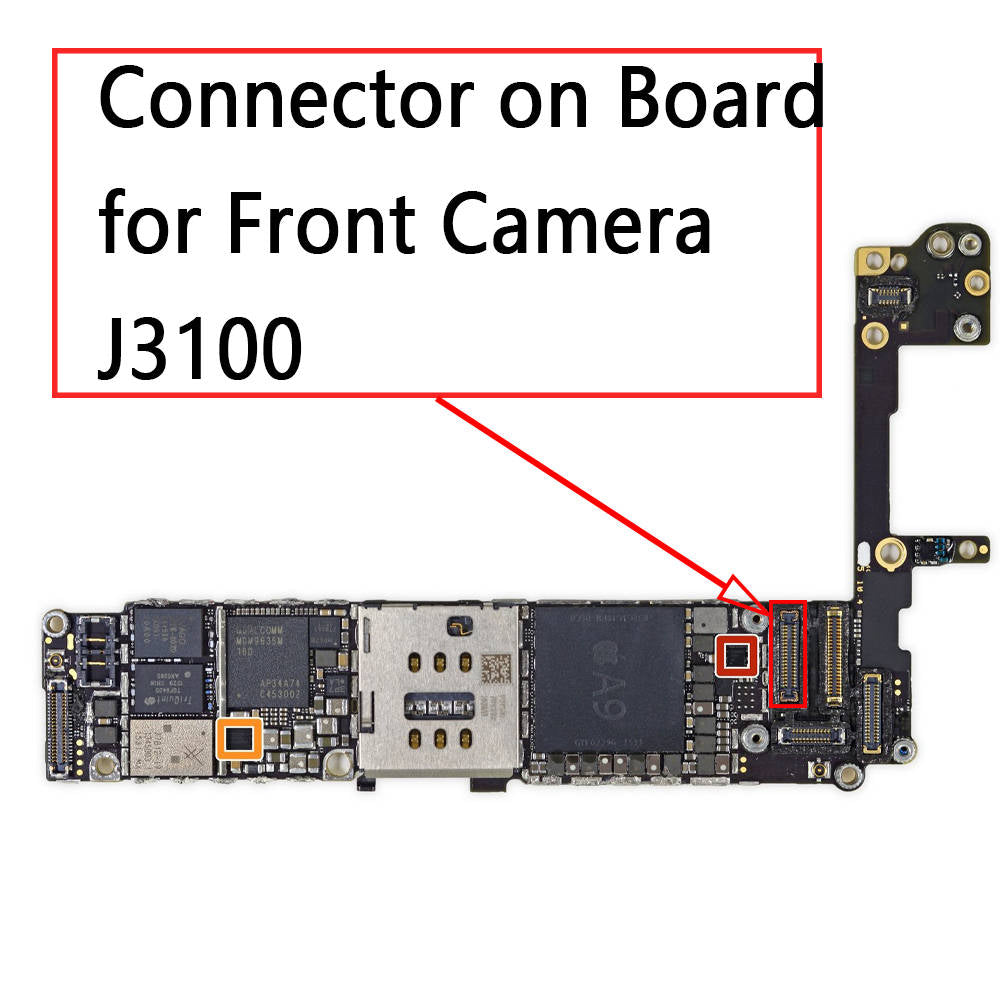 OEM 36Pin Front Camera FPC Connector on Board for iPhone 6S / 6S Plus