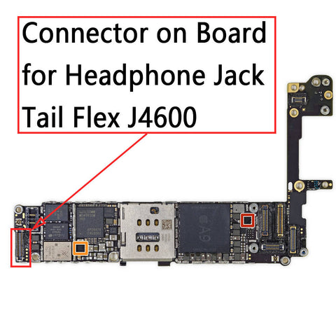 OEM 40Pin Earphone Jack FPC Connector on Board for iPhone 6S / 6S Plus