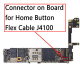 OEM 22Pin Home Button FPC Connector on Board for iPhone 6S / 6S Plus