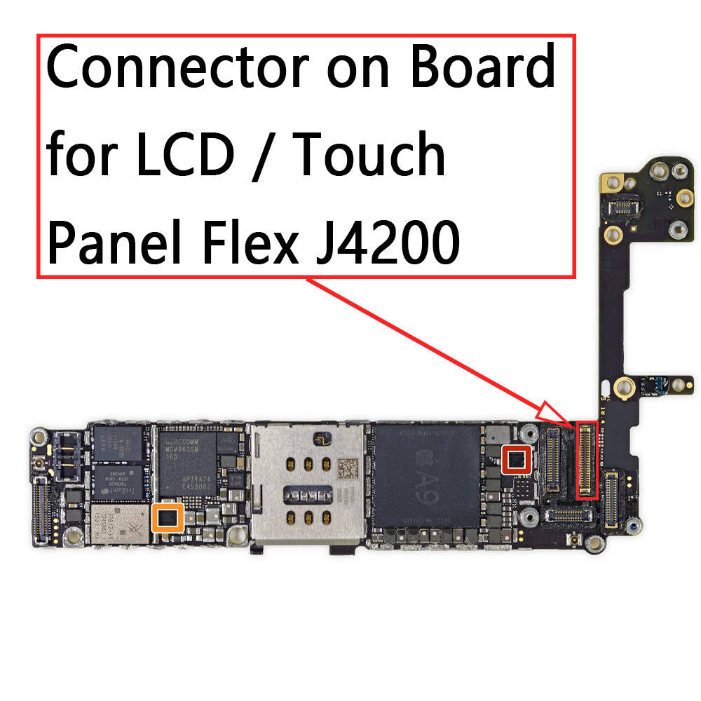 size 40 32c9b fac74 OEM 44Pin LCD Touch Screen FPC Connector on Board for iPhone 6S