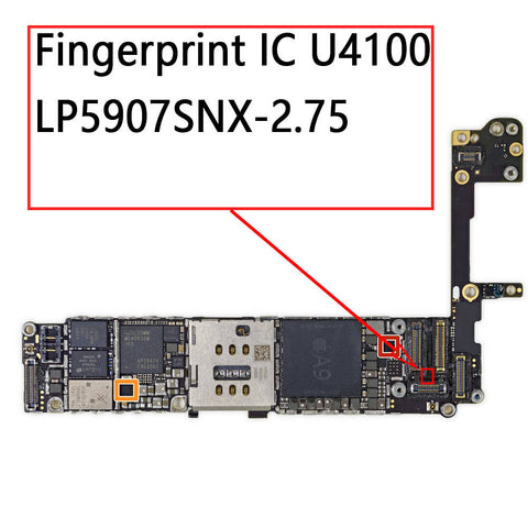 OEM 5Pin Fingerprint IC U4100 LP5907SNX-2.75 for iPhone 6S / 6S Plus