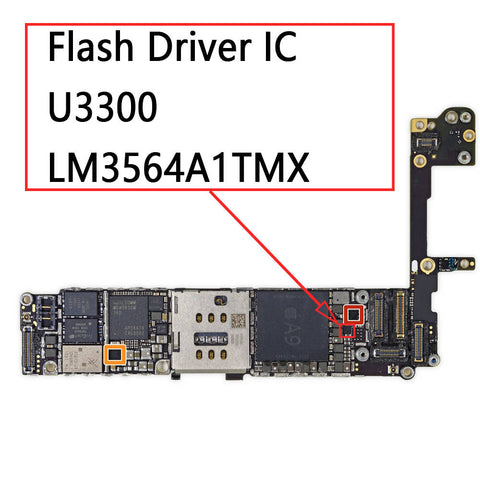 OEM Flash Driver IC U3300 LM3564A1TMX for iPhone 6S / 6S Plus