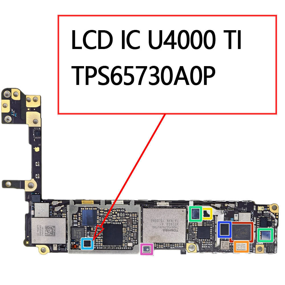 OEM LCD IC U4000 TPS65730A0P for iPhone 6S / 6S Plus
