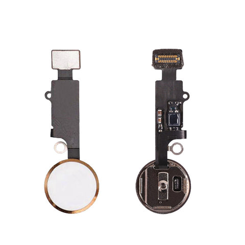 OEM Home Button Assembly with Flex Cable for iPhone 7 7Plus -Gold