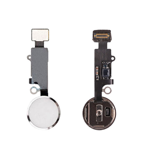 OEM Home Button Assembly with Flex Cable for iPhone 7 7Plus -Silver