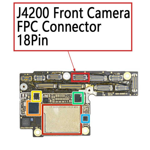 iPhone Xs XS Max J4200 Front Camera FPC Connector 18Pin | myFixParts.com