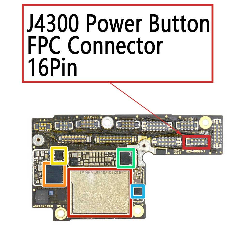 iPhone Xs XS Max Power Button FPC Connector | myFixParts.com