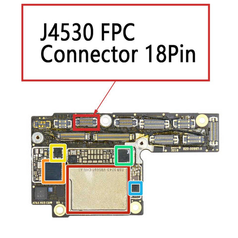 iPhone Xs XS Max J4530 FPC Connector 18Pin | myFixParts.com