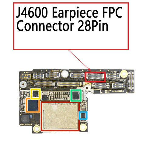 iPhone XS XS Max Earpiece FPC Connector 28Pin | myFixParts.com
