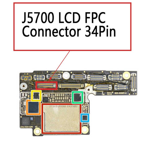 iPhone XS XS Max J5700 LCD FPC Connector 34Pin | myFixParts.com