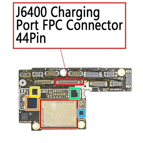 iPhone XS / XS Max Charging Port FPC Connector 44Pin | myFixParts.com