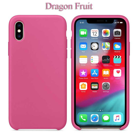 Slim Soft Liquid Silicone Case Dragon Fruit For IPhone XS | myFixParts.com