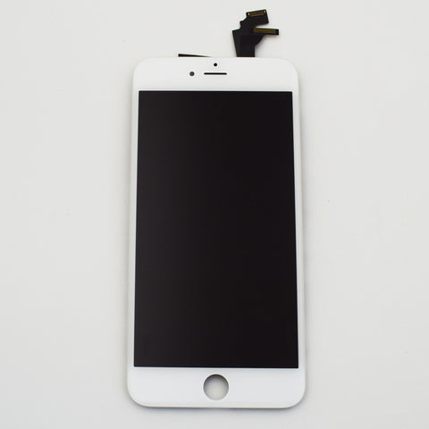 Aftermarket LCD Screen and Digitizer Assembly with Bezel for iPhone 6 Plus-White