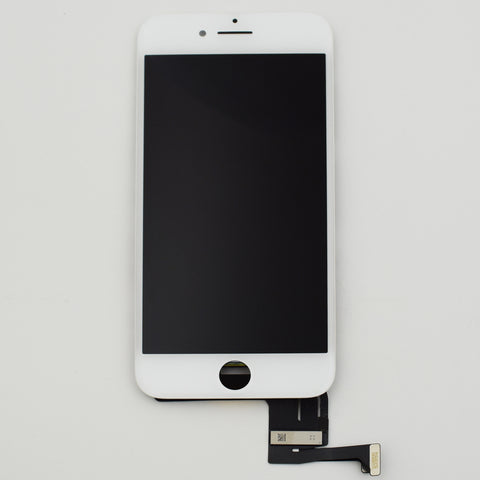 Aftermarket LCD Screen and Digitizer Assembly with Bezel for iPhone 7 -White