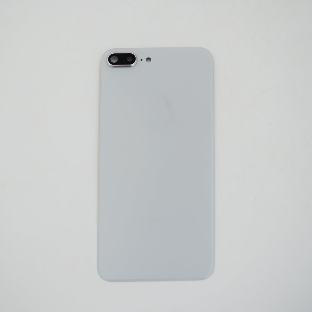 OEM Back Glass Cover with Camera Lens for iPhone 8 Plus -Silver