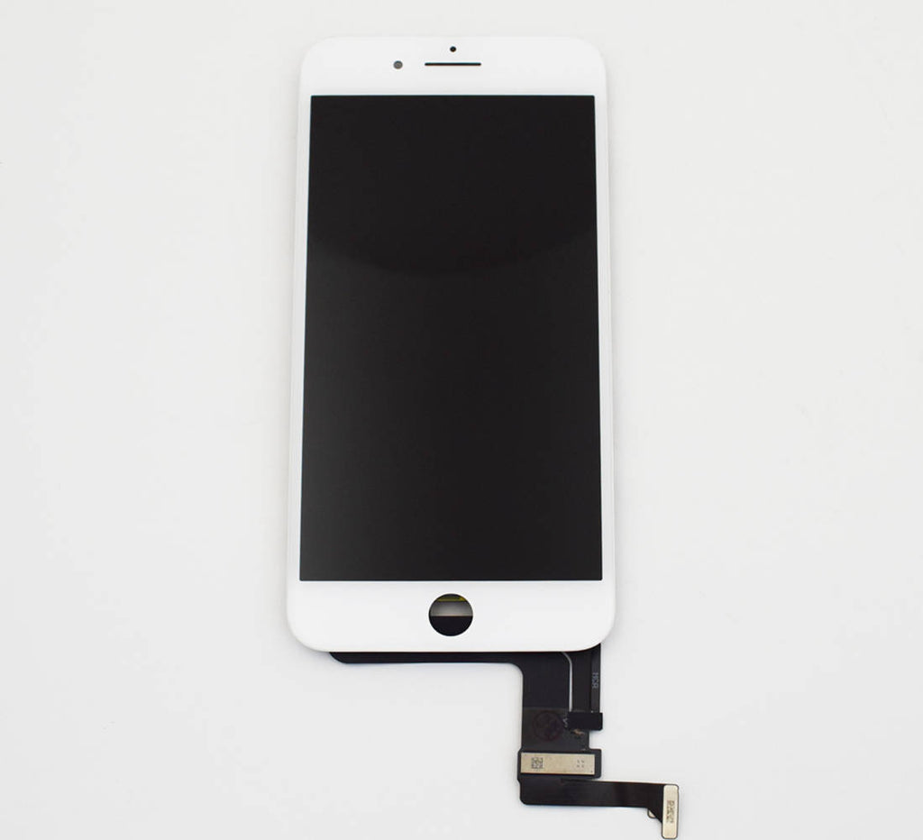 OEM LCD Screen and Digitizer Assembly with Bezel for iPhone 8 Plus -White