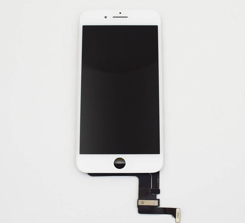 Aftermarket LCD Screen and Digitizer Assembly with Bezel for iPhone 8 Plus -White