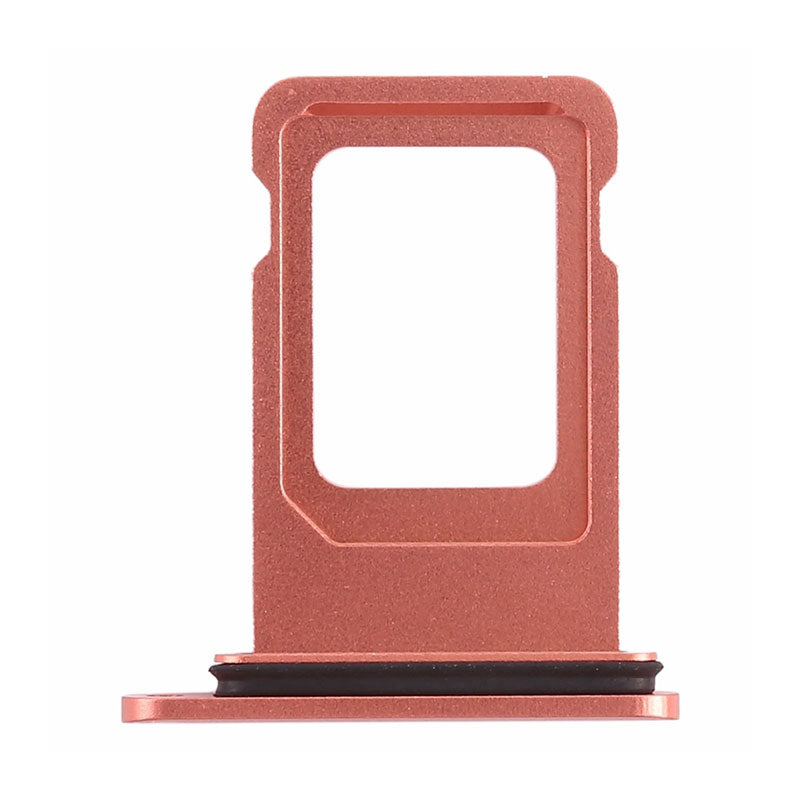 OEM Double SIM Tray with Rubber Ring for iPhone XR -Rose Gold