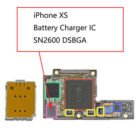 iPhone XS U3300 Battery Charger IC SN2600B2 | myFixParts.com