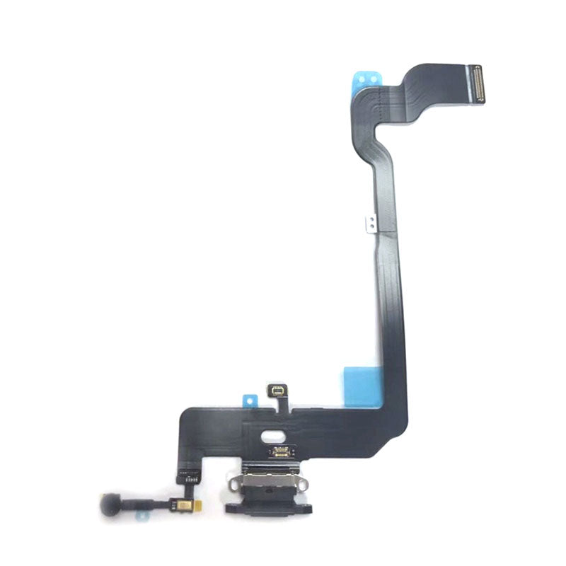 OEM Dock Charging Flex Cable with Tools for iPhone XS -Dark Gray