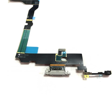 \iPhone XS Max Charging Port Flex Cable White | myFixParts.com