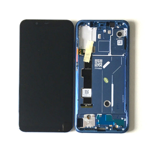 Xiaomi Mi 8 Screen Assembly with Frame Blue | myFixParts.com
