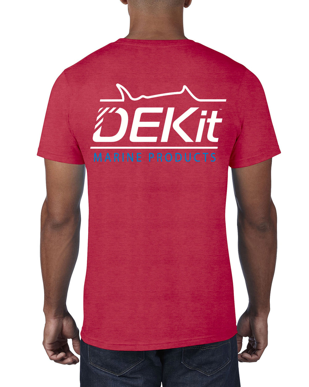 Unisex DEKit Marine Products T-shirt: Heather Red