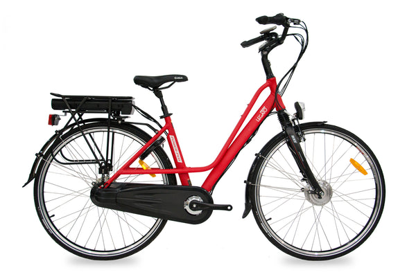 Best Step Through Commuter Electric Bicycle Legato PP (Red/Black/White) 26 inch / Red / 36V 13.6Ah + $100 eBikesPro Australia