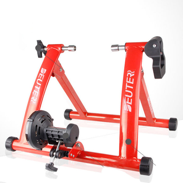 DETER MT-03 26-28 inch Red Bike Roller Trainer Training Stand Indoor Bicycle Rack Cycling Platform Bike Holder