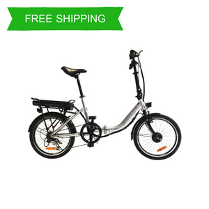 Easy Ride 20 Inch Step Through Folding Commuter Electric Bike BEAUT CV (Silver Black)