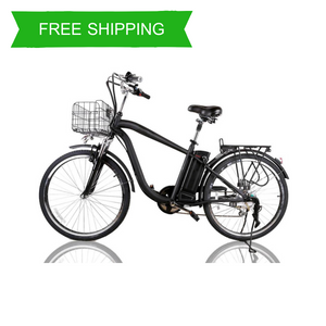 Camel 26 Inch Step Thru Men's Electric Bike MA (Black)