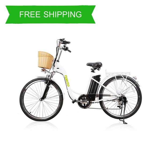 Comfortable 26 Inch Step Thru Women's Urban Electric Bike MA (White)