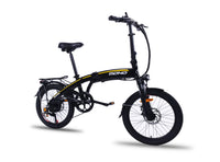 Lightweight Shimano 7 Speed 20 Inch Folding Electric Mountain Bike FD20MY18 SM (Black) Black / 20 inch eBikesPro Australia