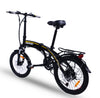 Lightweight Shimano 7 Speed 20 Inch Folding Electric Mountain Bike FD20MY18 SM (Black)  eBikesPro Australia