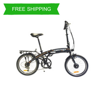 Easy Carry 20 Inch Folding City Electric Bike GECKO CV (Matt Black)
