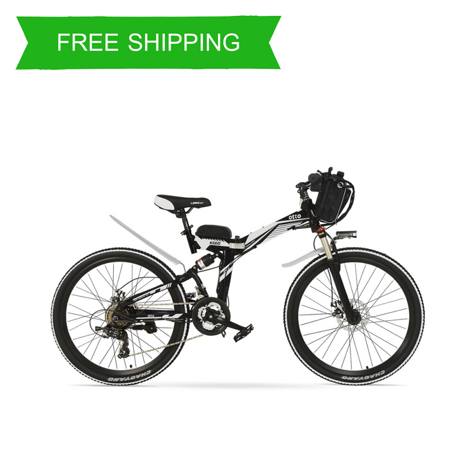 Easy Carry 26 Inch Folding Mountain Electric Bike K660 OS (Black/Blue/Grey/Red/White)
