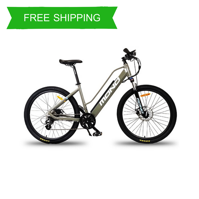 Unisex 26 Inch 8 Speed Mountain Electric Bike SE-26L001 SM (Grey/White)