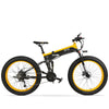 Affordable Powerful Folding 26 Inch Fat Tyre Electric Mountain Bike T500 OS (Green/Blue/Yellow) Yellow Black / 26 inch eBikesPro Australia