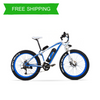 Powerful Fat Tyre 48V 18Ah 27 Speed 26 Inch Super Mountain Electric Bicycle  XF4000 OS (Red/Blue)