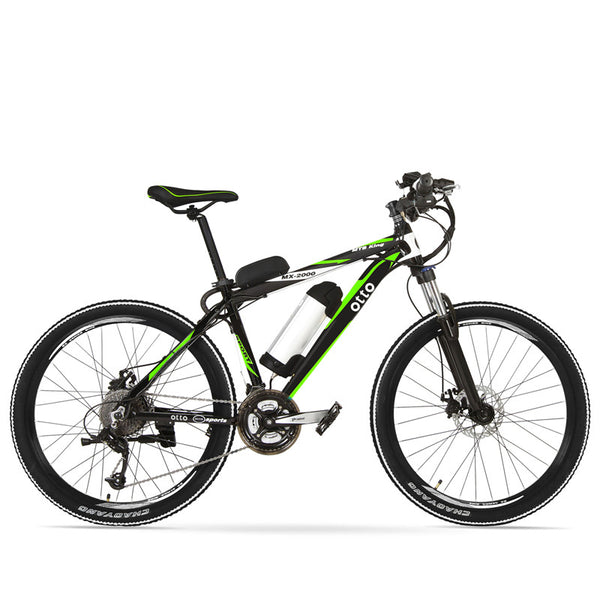 Powerful 240W 48V 12A Light Weight 26 Inch 27 Speed Electric City Bike MX2000 OS (Green/Yellow/Blue)