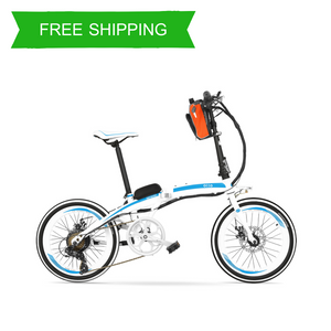 Foldable 20 Inch External Battery City Electric Bike QF600 OS (White/Black/Red Black/Red/Orange)