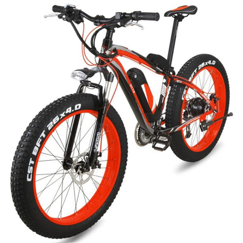 Powerful Fat Tyre 48V 18Ah 27 Speed Super Mountain Electric