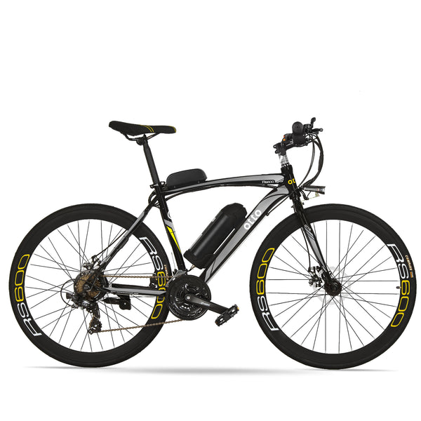 Affordable 700c Shimano 21 Speed Commuter Electric Bike RS600 OS (Grey/Yellow/Blue/Red) Grey Black eBikesPro Australia
