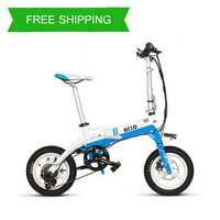 Folding 14 Inch Electric City Bike A5 OS (White/Blue)