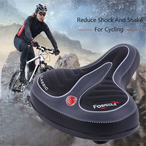 Comfortable and Wide Bicycle Soft Pad Saddle Seat  eBikesPro Australia