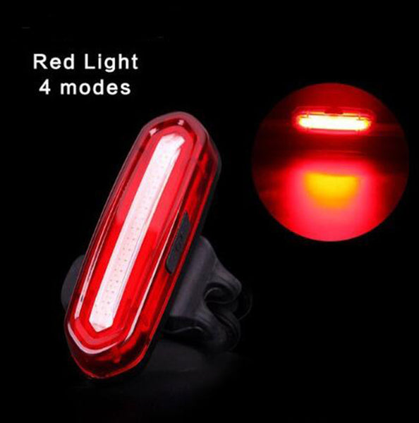 USB Rechargeable Bicycle LED Tail Light