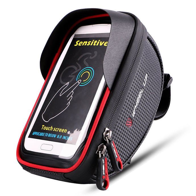 Waterproof Bicycle Bag with 6 Inch Touchscreen Phone Case