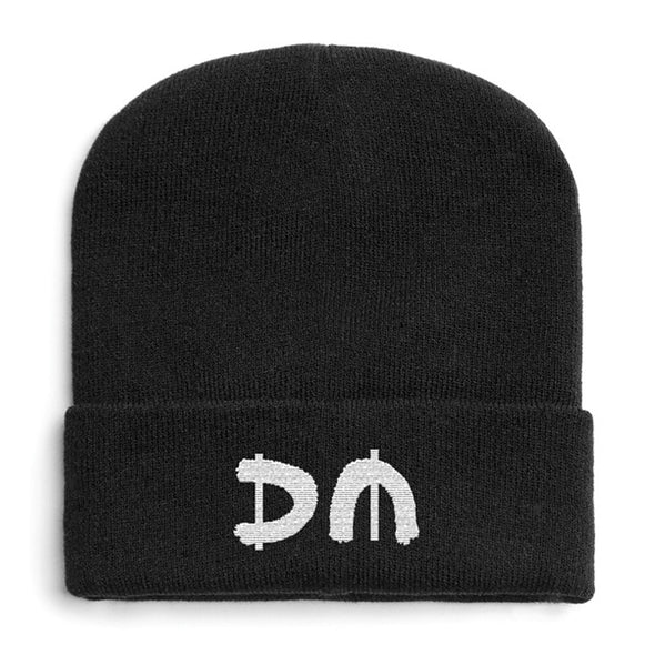 Silver DM Turn Up Beanie-Depeche Mode