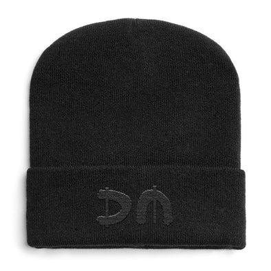 Black DM Turn Up Beanie-Depeche Mode