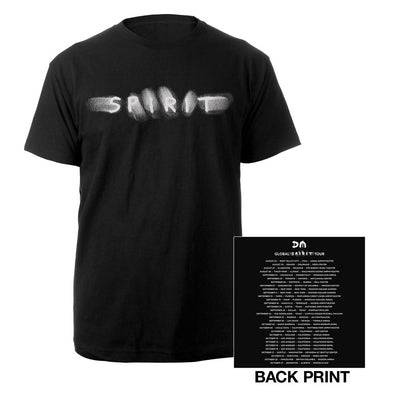 Spirit/US Dates Black T-shirt-Depeche Mode